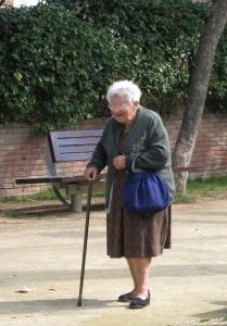 idoso de bengala